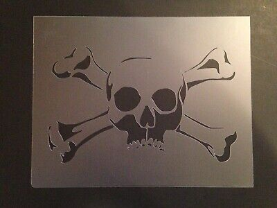 Halloween Airbrush (Skull #13 Stencil 10mm or 7mm Thick, skulls, halloween, Crafts,)