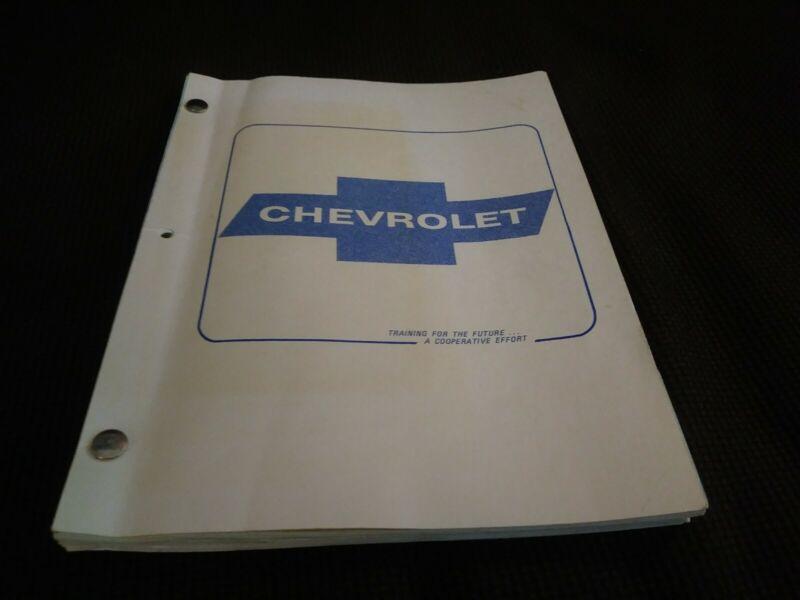 Vintage Chevrolet Training Manual General Motors