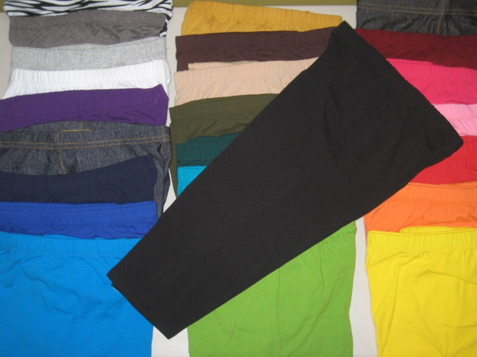 Cotton Spandex Capri Length Leggings Pants Misses Women's Pl