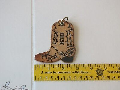Keychain Leather name dick