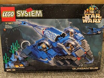 Vintage LEGO 7161 Star Wars GUNGAN SUB Complete w/ Parts + Manual + Box !!