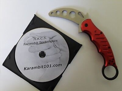 FOX Style Karambit Knife Knives Training with instruction techniques DVD video