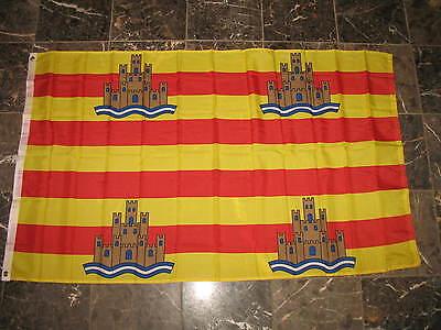 3x5 Ibiza Spain Spanish Island Rough Tex Knitted flag 3'x5' Brass Grommets](Spanish Flags)