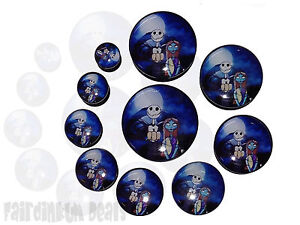 Jack Sally Nightmare Before Christmas Flesh EAR Tunnel Plug | eBay