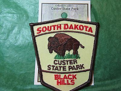 CUSTER STATE PARK BUFFALO EMBROIDERED PATCH BLACK HILLS SOUTH (Custer State Park Buffalo)