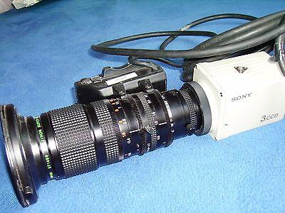 Sony Color-video-kamera (SONY 3CCD Color Video Kamera DXC-750P Camera mit Fujinon super wide TV zoom Lens)