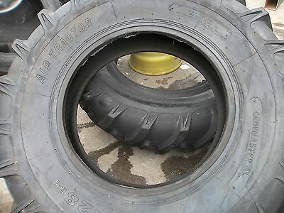 One New 16.9x28 John Deere 8 Ply R 1 Bar Lug Rear Farm Tractor Tire