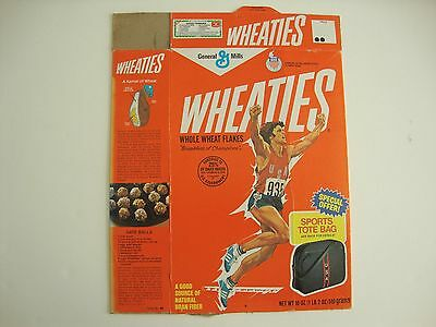 1980 Original Bruce Jenner Wheaties Cereal Box - Olympic Champions Part 4 Story