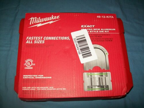 New Milwaukee 49-12-KITA EXACT™ #6 – 750 MCM Aluminum 12T UStyle Crimper Die Kit
