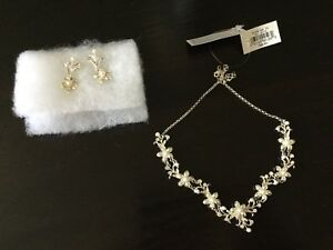 Bridal necklace with matching earrings