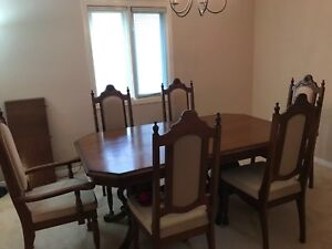 Six chair dining table