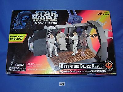 Star Wars DETENTION BLOCK RESCUE with Opening Escape Hatch MIB CONDITION C8