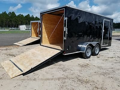 7x14 7 X 14 Enclosed Trailer Cargo V Nose 16 6motorcycle Box 8 Lawn Tandem 2019