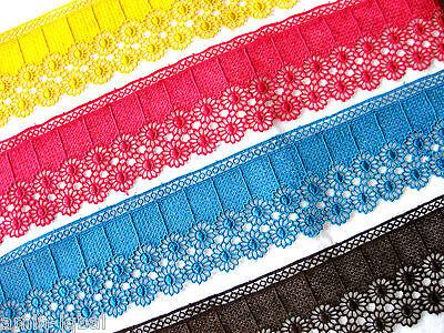 bella pizzo / bordino, aetzespitze, molti colori, 8,5cm ampia LFM , S12