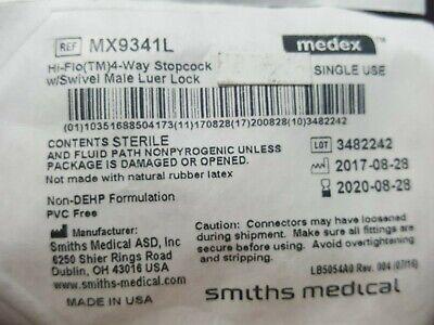 Smiths Medical Mx9341l Hilo 3way Stopcock Lot-52 8-2020 D1