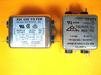 Pdi Power Dynamics And Tri-mag Pe10f-l2 And Mb3-10e Emi Filter