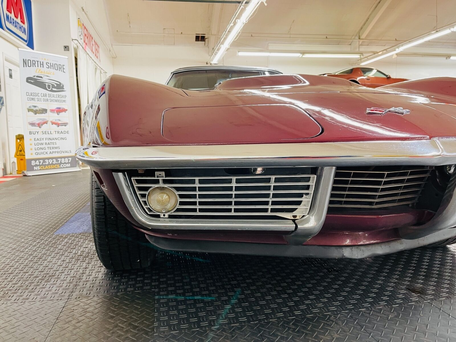1968 Burgundy Chevrolet Corvette   | C3 Corvette Photo 10