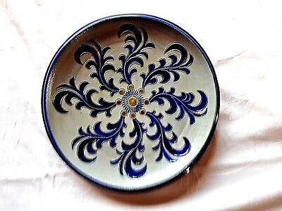Den Blauen Teller (Steinzeug/Keramik Teller der Manufaktur Otto Blum aus den 40er Jahren grau-blau!)