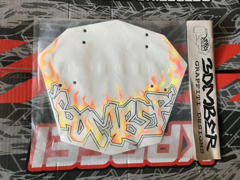 Bomber BMX number plate Flames vintage NOS Still In The Original Package