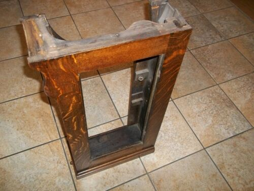 Singer Sewing Machine Drawing Room Cabinet Tiger Oak Right Side Unit