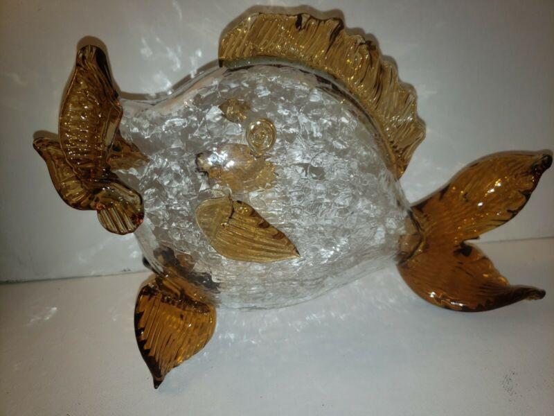 MCM Mid Century PILGRIM GLASS  FISH BY ALESSANDRO MORETTI HANDBLOWN