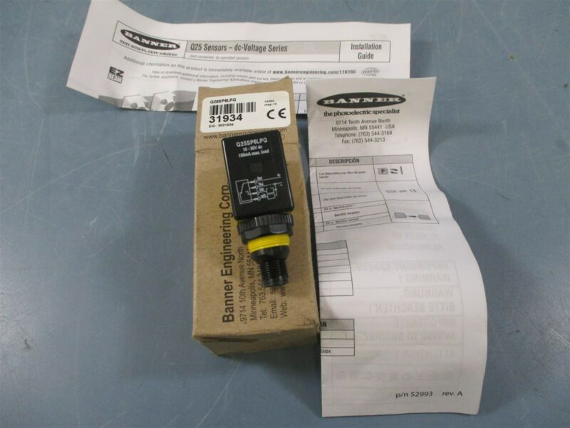 Banner Q25SP6LPQ Photoelectric Sensor - New