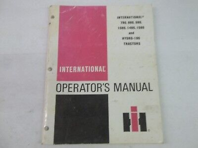 International Harvester 786 886 986 1086 1486 1586 186 Tractors Operators Manual