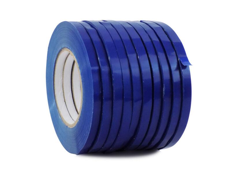 WOD UPVC-24BS Dk. Blue Produce Poly Bag Sealing Tape: 1/2 in. x 180 yds. 10-Roll