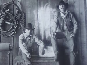 Jay Dusard Cowboy Portrait Skull Valley, Az 1981 Screen Print Poster MINT