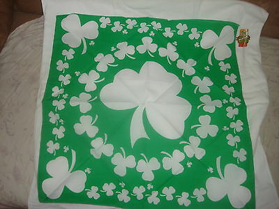 GREEN SHAMROCK HEAD BANDANA SCARF WRAP DURAG ST PATRICKS DAY PATTYS FLAG IRISH