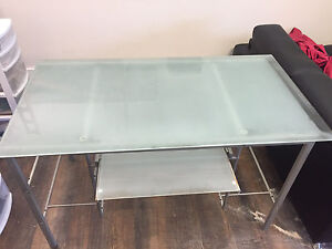 Glass desk. 4' X 3' Has to go today!