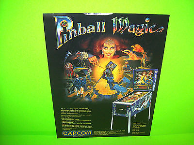 Capcom PINBALL MAGIC Original 1995 Flipper Game Pinball Machine Sales Flyer Adv.