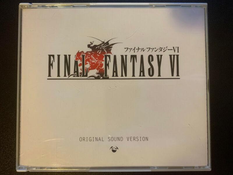 Final Fantasy VI 6 Original Sound Version - Tested - No Booklet - Free Shipping!