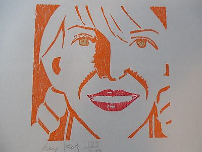 "Alex Katz ""Jessica"" Beautiful Woodcut Hand Signed & Numbered  !!!"