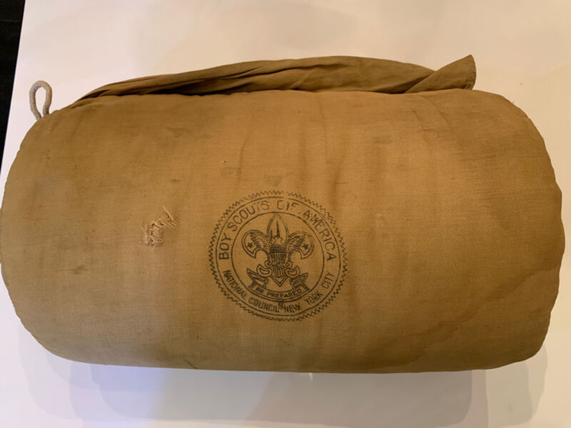 Vintage Boy Scouts Sleeping Bag New York Stamp 1940's Or 1950's