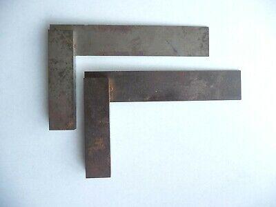 2 Antique Darling Brown Sharpe 6 Steel Squares Machinist Toolmaker Free Ship
