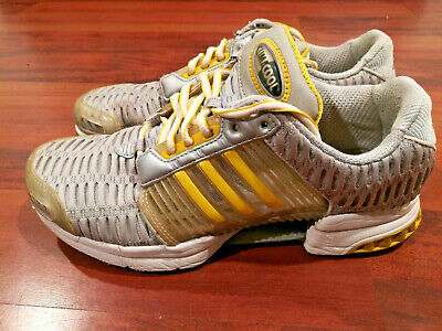 ADIDAS Climacool Run 2002 Men's Running Shoes Gray Silver Yellow Size 8.5