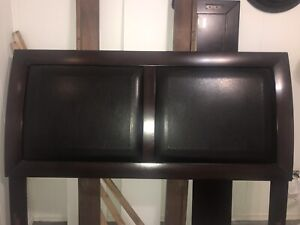Queen size bed frame, dining  table no chairs and 4-drawer chest
