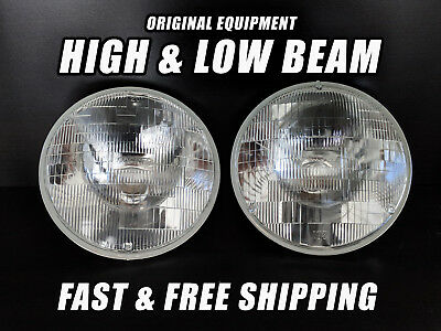 OE Front Halogen Headlight Bulb for AMC Hornet 1970-1977 High & Low Beam Set 2