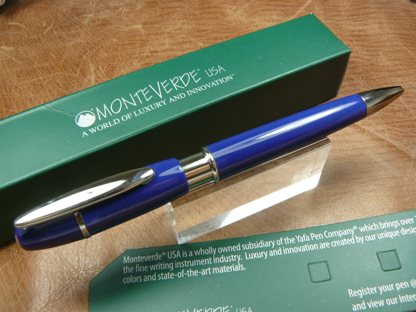 MONTEVERDE JAXX DARK BLUE  BALLPOINT PEN BOX/WARRANTY
