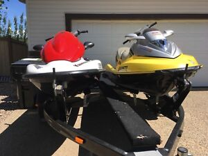 2007 Kawasaki and 2003 Seadoo GTX
