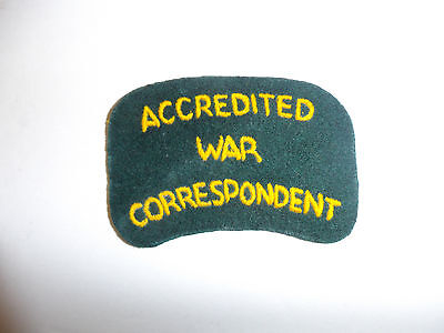 c0066 WW 2 Civilian Australian Accredited War Correspondent Shoulder patch R10C