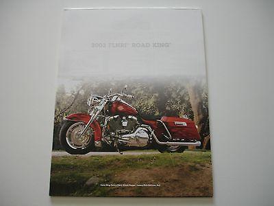 Harley Davidson Road King Specs (2003 HARLEY DAVIDSON 100TH ROAD KING FLHRI OEM CUSTOM BROCHURE SPEC SHEET )