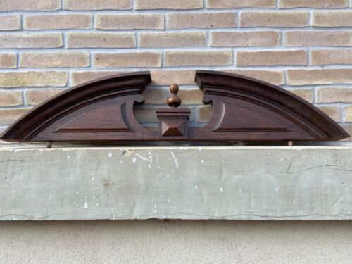 Antique French Carved Wood Architectural Pediment