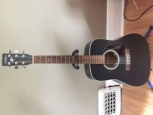 Art and Lutherie matte black acoustic guitar