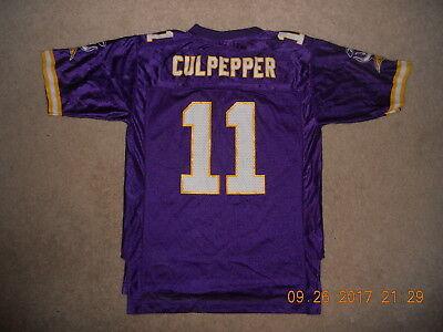 Minnesota Viking Football (Minnesota Vikings Football Jersey #11  Dante Culpepper Reebok Classic Youth)