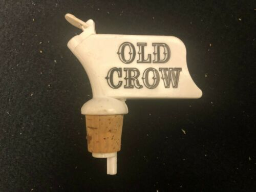 Old Crow Bottle Topper Liquor Bottle Pourer Vintage