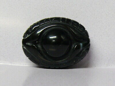 (uV383) Tibet : Beautiful Hand Carved Old Agate Pendant