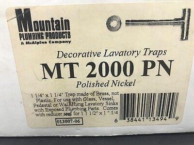 Mountain Plumbing MT2000PN Decorative Lavatory Traps Decorative Lavatory Trap