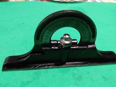 Vintage Ls Starrett No 490 Protractor Head For Combination Square Machinist